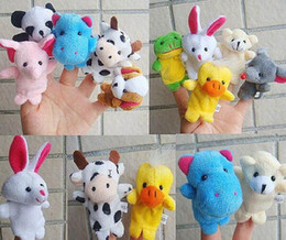 Brinquedos de dedo falando on-line-Animais Fantoche de Mão Do Bebê Do Bebê Brinquedo de Pelúcia Fantoches de Dedo Falando Adereços 10 estilo Animal Grupo Stuffed Animals Brinquedos Presentes DHL Livre