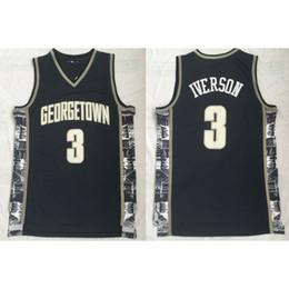 Винтажные майки-майки онлайн-Ретро Аллен Айверсон Баскетбол Джерси Коллекция прошитой NameNumber Vintage Georgetown Hoyas пережиток Колледж трикотажные изделия