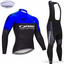 Jersey longo orbea on-line-Top quality pro team ORBEA Homens ciclismo jerseys roupas de ciclismo de Corrida de Inverno térmica de lã de manga comprida Ropa ciclismo MTB bicicleta roupas