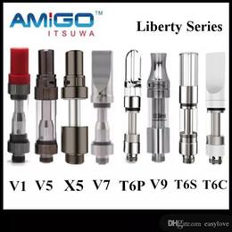 atomizzatore cromato Sconti Vendita ufficiale iTsuwa AMIGO Liberty serbatoio cartucce ceramica V1 V5 X5 V9 Tcore T6S T6P T6C Vaporizzatore per Max Vmod C5 batteria 100% originale