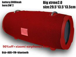Скидка продвижение xtrme2.0 Bluetooth-динамики 6 цветов в наличии 5W * 2 большой размер беспроводной динамик портативный Серии воспроизведения cheap discount bluetooth от Поставщики скидка bluetooth