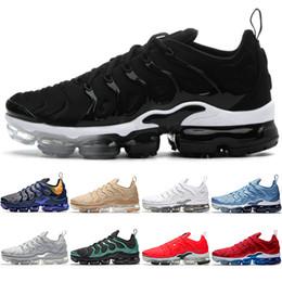 check out 47e3f eb401 2019 zapatos tn rojo negro Nike Air Vapormax Max TN Plus Airmax Hombres  Mujeres Zapatillas de