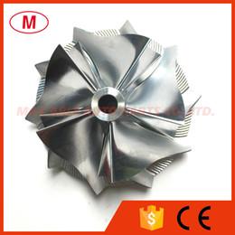 Rueda del compresor del turbocompresor online-K04 46.00 / 60.00mm 5 + 5 cuchillas Rueda de compresor Turbo Billet de alto rendimiento / Aluminio2618 / Rueda de compresor de fresado Turbocharger para CHRA