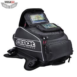 2019 sacchetto impermeabile del casco Menat Magnet Motociclette Serbatoio carburante Borse moto impermeabile Borsa casco Moto Motocross Borse da viaggio GPS per telefono sacchetto impermeabile del casco economici