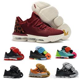 2020 nuove scarpe da basket di natale 2020 Mens lebron 16 basse scarpe da basket di dimensioni nuova Viola Oro Verde BHM Oreo Natale scarpe sportive giovanili di tennis 7 12 sconti nuove scarpe da basket di natale