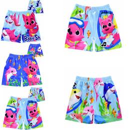 Maillots de bain bébé en Ligne-3styles Shark imprimé maillot de bain dessin animé Shorts de bande dessinée maillot de bain short de plage pantalon de requin bébé pantalon de bain FFA2159