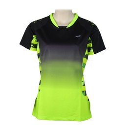 badminton jersey men Coupons - Men Women's Professional Badminton Shirts Quick Dry NEW Li Ning Breathable Jersey Sports Athletic T-Shirt Tops
