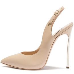 Sandalen 33 online-Kakao Sandalen Damen High Heels Schuhe Frau Party Weiß Hochzeit Pumps Plus Größe 33 - 43 Mode Sexy Peep Toe Sandalen 2019