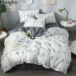 weinrot bettbezug könig Rabatt Hongbo 4 Teile / satz Nordischen Stil Bettwäsche-Sets Geometrische Muster Bettwäsche Futter Bettbezug Bettlaken Kissenbezüge Set