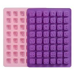 lettres alphabet gâteau Promotion 26 lettres alphabet majuscule lettres de la feuille mince chiffres arabes moule de glace moule de gâteau non toxique moule de chocolat MMA1426