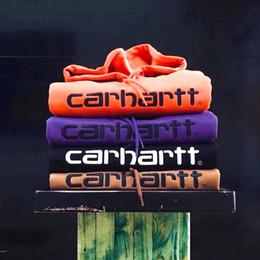 Бархатное вышитое пальто онлайн-Роскошный брендCarhartt OFF Star белый Простой классический вышитые буквы бархата вышитые с капюшоном свитер спортивной моды для мужчин wome пальто