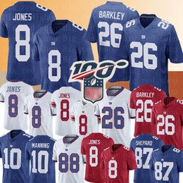 Tom trikot online-New 8 Daniel Jones Yorker Riesen Jersey 26 Saquon Barkley Jersey 10 Eli Manning 87 Sterling Shepard 88 Evan Engram Fußballjerseys