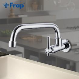 2019 rubinetti da cucina a parete Frap Kitchen Faucet Water Rubinetto monoforo Rubinetto da cucina Miscelatore a parete Rubinetti Flessibile girevole sconti rubinetti da cucina a parete