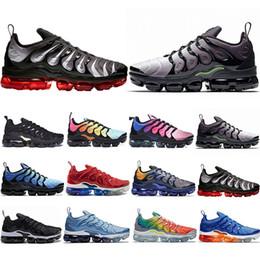 4efb5f63564b New Arrival TN Plus Running Shoes Men Women Game Royal Rainbow bleached  aqua TRIPLE WHITE BLACK Fades Blue VOLT Trainer Designer Sneakers