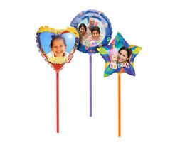 Diy Photo Balloon Formato carta A4 per la stampa Compleanno Feste Giocattoli per bambini con bastoni Decorazioni di nozze Anniversario da
