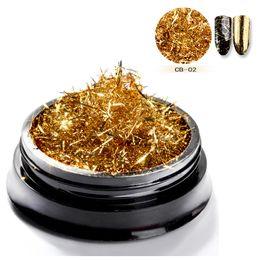 Monja Gold Silber Nail Art Streifen Linien Glitter Folie Seide Magie Wirkung Chrom Pulver Spiegel Pulver Aluminium Flakes Dekorationen Schönheit & Gesundheit