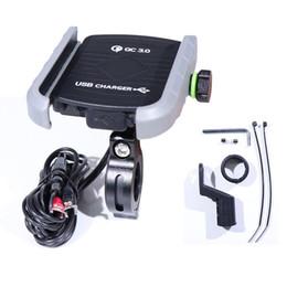 2019 carregador do telefone da pilha da motocicleta Cell Phone Suporte Suporte Móvel Telefone USB Charger motocicleta guiador Suporte carregamento rápido carro Suporte Suporte Multi-Funcional desconto carregador do telefone da pilha da motocicleta