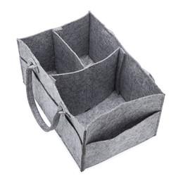Nuova borsa cosmetica piegante grigia dei sacchetti di immagazzinaggio dei pannolini degli indumenti della borsa di stoccaggio del feltro grigio nuovo Trasporto libero da mano a maglia di paglia fornitori