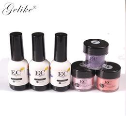 Gelike Dip Nail Glitter Pigment Powder 10g Blu Viola Polvere Manicure Art Chrome Decorazioni da