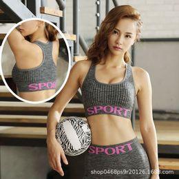 126bc4ee34 2019 Women Sport Bra Top Fitness Yoga Bra Black White Sport Underwear  Running Yoga Gym Fitness Push Up Sports