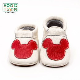 Genuine Leather Mouse Baby Shoes Hard Bottom Anti Slip Infant Toddler Shoes Spring Cute Baby Moccasins Prewalker от