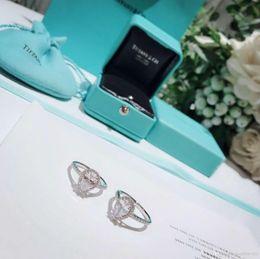 Einfache paare klingelt online-Womens Schmuck Ringe 925 Sterling Silber Diamant Ring Warenkorb Marke Luxus High Carbon Diamond Tear Drop Form einfache Ring paar Anpassung