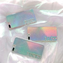 Glitter di gradiente di caso di iphone online-Bling Bling molle del gel della cassa del telefono dell'arcobaleno TPU Gradiente Laser copertura di scintillio del telefono di Shell per iPhone 7 8plus XR X MAX