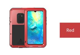 Para el caso de Huawei mate 20 pro lite LOVE MEI Shock Dirt Proof Metal Armadura resistente al agua Funda para Huawei P20 pro lite E3 desde fabricantes