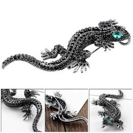 2019 piedini gecko Pins Lizard Gecko Spilla per camicia da donna Cute Silver Gifts Fashion Jewelry Metallo Carino Pin Set Gioielli Smalto piedini gecko economici
