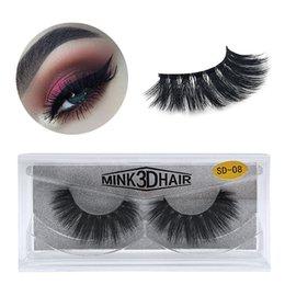 Canada Cils 3D en vison maquillage pour les yeux Mink faux cils doux naturels épais faux cils Cils en 3D extension des cils beauté outils 17 styles DHL gratuit Offre