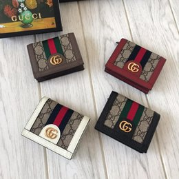 Billetera de dinero de lujo online-2019 hombres, para mujer, diseñador, billetera, diseñador, carteras de cuero para hombres, mujeres, mujeres de lujo, monedero con caja 523155