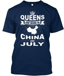 adc3143df China-july-01 - Queens Are Born In China And Standard Unisex T-Shirt (S-5XL)