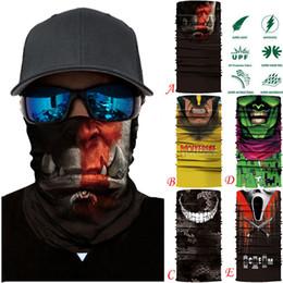 Lenços de cara de motociclista on-line-Quick-secagem Ciclismo Motocicleta Tubo de Pescoço Cachecol De Esqui Máscara Facial Balaclava Função Completa Esqui Biker Cachecol Vento Máscara Facial 40A10
