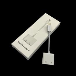 Deutschland 2 in 1 Handy Adapter Dual USB-C Dual Typ C Dual 8 Pin Audio Konverter Splitter Kopfhörerkabel Adapter Ladeadapter für Samsung i7 Versorgung