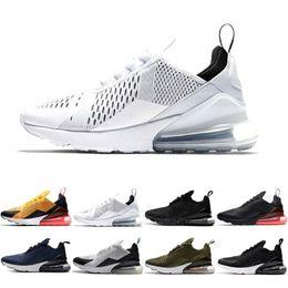 prateleira de sapato Desconto Novas prateleiras 2019 NIKE W Air Max 270 Airmax 270 Flair homens de Alta Qualidade sapatos preto three-layer branco almofada mulheres homens moda casual shoes tamanho 36-45