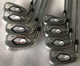 Cabeza izquierda online-Los palos de golf de la mano izquierda AP3 718 Golf Hierros AP3 718 Set de hierro 3-9Pw (8PCS) Eje de acero flexible R / S con tapa