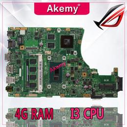 2019 x58 motherboards Akemy X455LD X455LJ Laptop Motherboard für ASUS X455LD / J X455L X455 Y483L W419L W409L F455 Testen Sie das ursprüngliche Mainboard 4G RAM I3 CPU