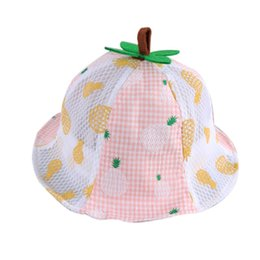 ecb12c6f746 Cute Baby Girl Kids Toddler Fruit Printed Cotton Summer Bucket Sun Hat Cap