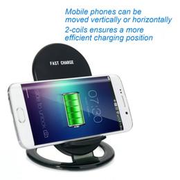 2019 15w iphone charger Универсальная беспроводная подставка для зарядного устройства N900 со светодиодным индикатором 2 катушки скидка 15w iphone charger