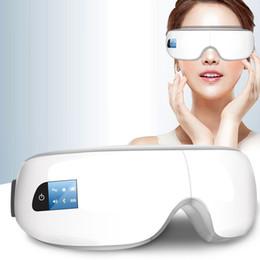 Masaje de ojos online-Bew Electric Eye Mask masajeador Migraña la frente Herramientas de ojos masaje del cuidado del cuidado de la salud del ojo relaja la música de Bluetooth