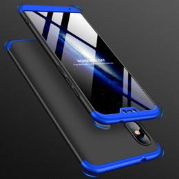 360 Полный Защитный Чехол для Телефона Для Xiaomi MI 8 Lite Pocophone F1 Max 3 Redmi Note 6 Pro A2 Lite 6A 3 в 1 Матовый жесткий пластиковый чехол от