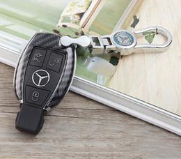 Mercedes A B C D Sınıfı W204 W205 W212 W213 GLC GLA GLK GLA CLA Karbon Elyaf ABS Plastik Anahtar Kılıfı Yüzük Zincir Anahtarlık Anahtarlık nereden toptan anahtarsız uzaktan kumandalar tedarikçiler