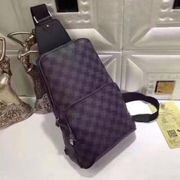 sacs à bandoulière croisés pour voyager Promotion Sac poitrine en cuir véritable pour hommes AV. SAC À MAIN D.GRAP. N41719 sac de voyage Pochette à bandoulière poitrine pour homme NENS164 N41473 41473 N41712