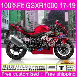 corredo gsxr in metallo rosso Sconti Kit iniezione per SUZUKI GSX R1000 GSXR 1000 GSX-R1000 17 18 19 15HM.98 GSXR-1000 K17 L7 L8 GSXR1000 2017 2018 2019 Good Pearl Red Fairing