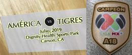 Argentina Club America Campeon de campeones 2019 Detalle del partido final América vs Tigres y Liga de México Campeón A18 Parche Suministro