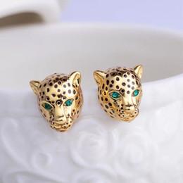 conjuntos de jóias de fantasia para casamentos Desconto Amybaby 2018 Esmalte Handmade Esmalte Panther Leopard Green Sone Womens Brinco Jóias Para a festa