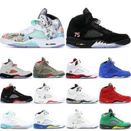check out 5f494 c4ea2 Nike Air Jordan Retro Classique Camo 5 5s Hommes Chaussures De Basket-ball  Wings Rouge Suede Noir Métallique Saint Germain AAA Qualité 2019 V  Athlétisme ...