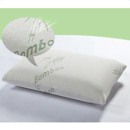 almohada terapia de sueño Rebajas Hipoalergénico fibra de bambú de memoria almohadas de espuma lavable con funda de almohada para dormir de bambú de espuma de memoria almohadas