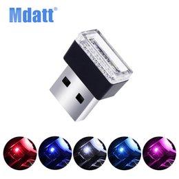 faróis de nevoeiro mazda cx Desconto Mdatt Car USB Luzes LED Atmosfera Decorativa Lâmpada de Iluminação de Emergência Interior Ambiente Lâmpada Universal PC Portátil Plug and Play