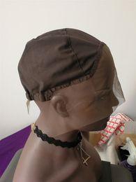 Rendas que faz a máquina on-line-Alta Qualidade Lace Front Wig Cap Base para Fazer Perucas com Alça Ajustável Meia Máquina Feita Meia Feita à Mão Hairnet